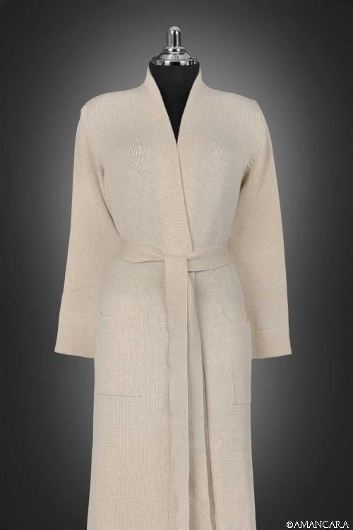 Buy online luxury Italian murano cashmere dressing gown | Amancara